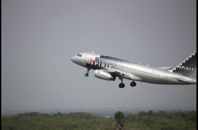 Aerolínea Spirit estrena vuelo directo Cartagena- Orlando.