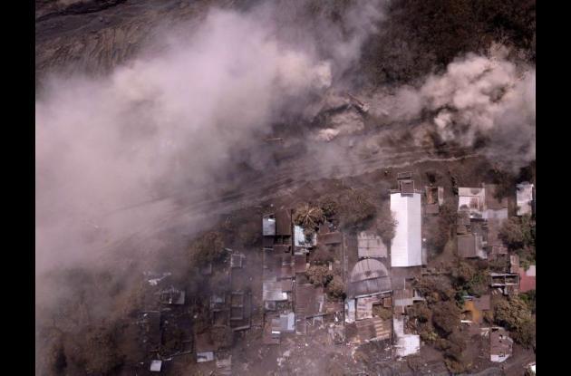Área afectada por el Volcán de Fuego en Guatemala