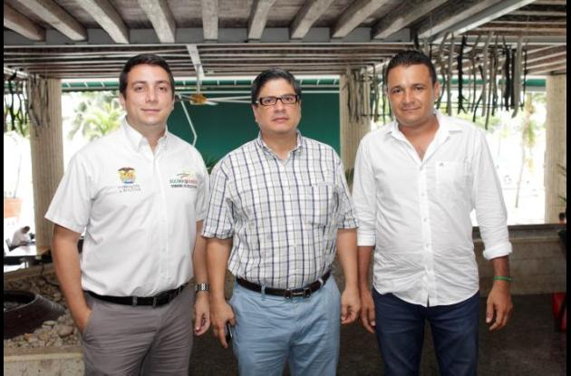 Wady Romano, José Carlos Puello y Manuel Ramos.