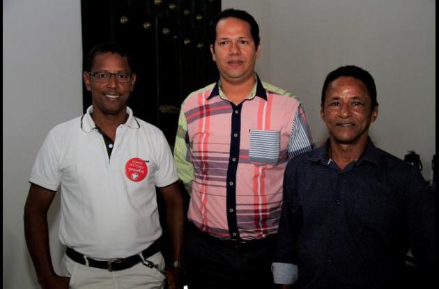 Wilson Parra, Fabio Correa y Carlos Parra.