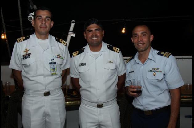 Alberto Quintero, Felipe Urrego y Estevan Olivera.