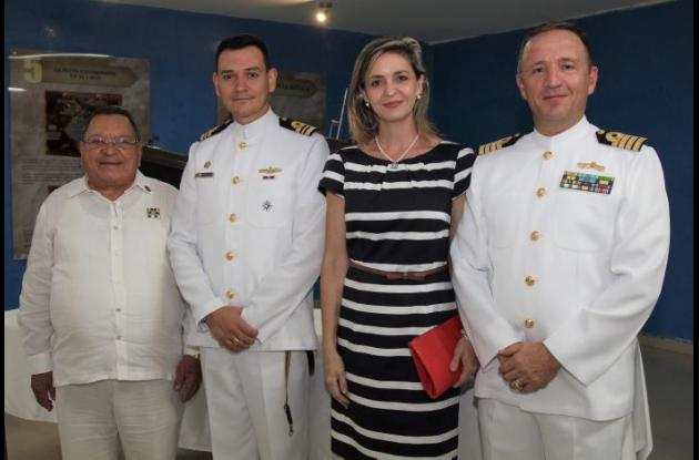 Alfonso Osorio, Javier Barón, Cristina de Moog y Ludwig Moog.