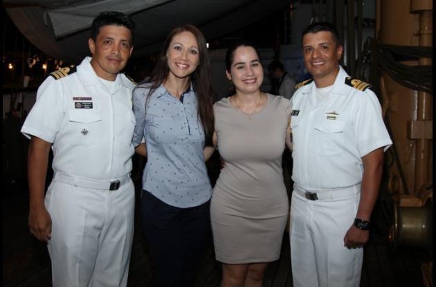 Andrés Trujillo, Liliana Hernández, Dayana Sánchez y Edwin Feria.