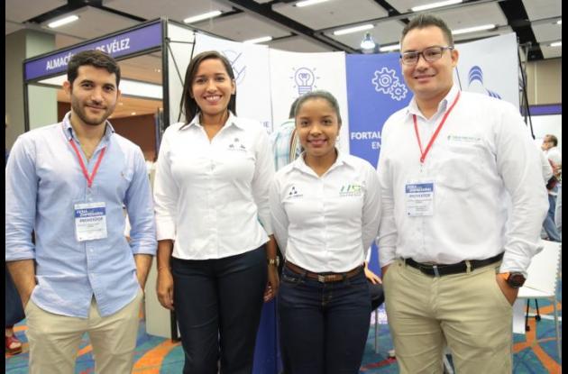 Carlos Andrés Vélez, Angélica Carrillo, Karina Mora y Sebastián Lanzziano.