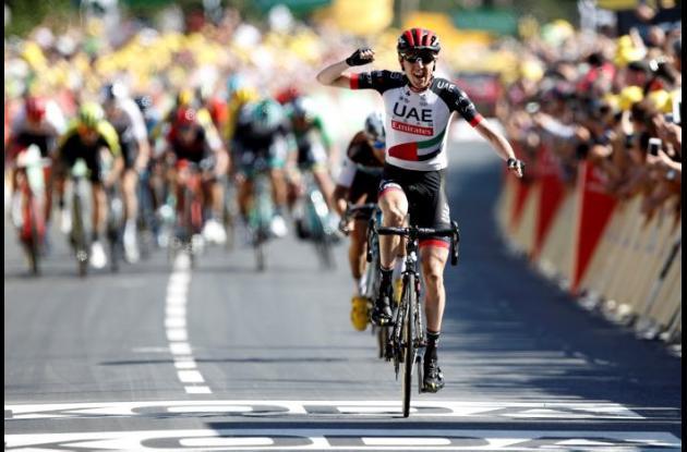 Daniel Martin ganó la etapa 6 del Tour de Francia