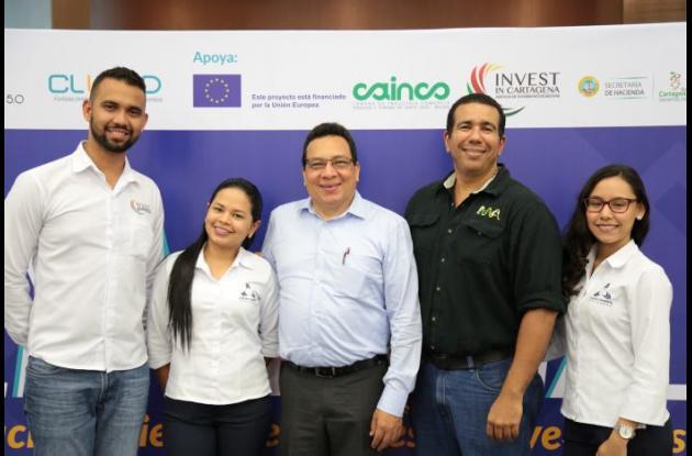 Daniel Mendoza, Yeimy Llerena, Luis Alfonso Osorio, Arturo Marrugo y Karina Guzmán.