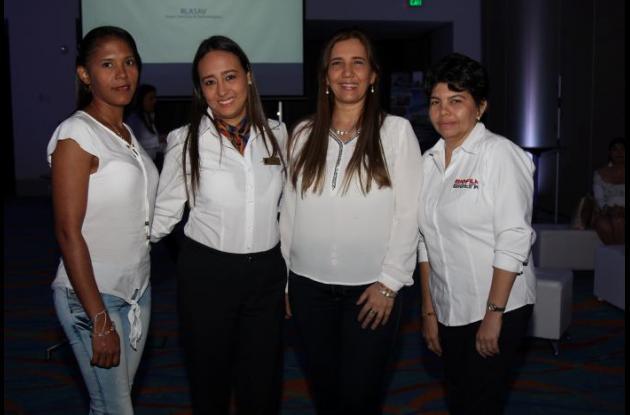 Deiny Pacheco, Liliana Ramos, Tatiana Garrido y Astrid Martínez.