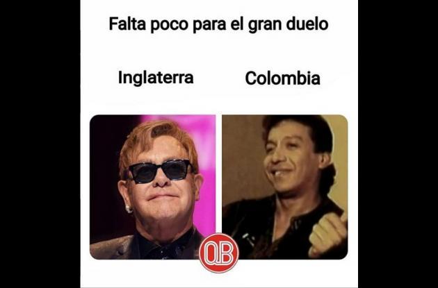 Elton John y Diomedes Díaz.