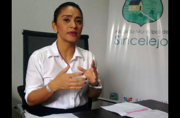 Escarlata Alvarez, secretaria de Educación de Sincelejo.
