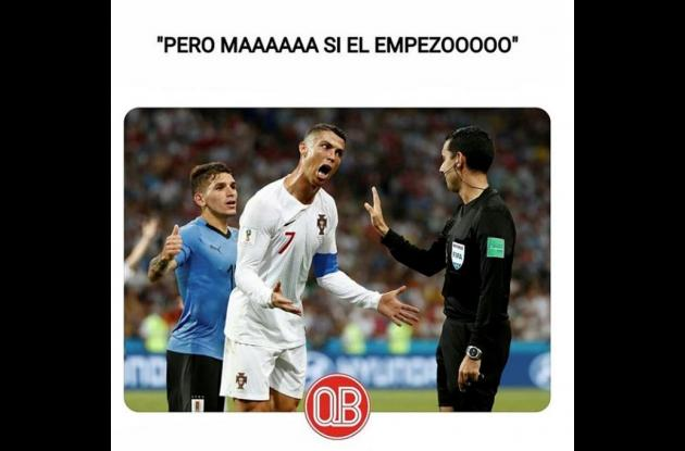 Foto graciosa de Cristiano Ronaldo.