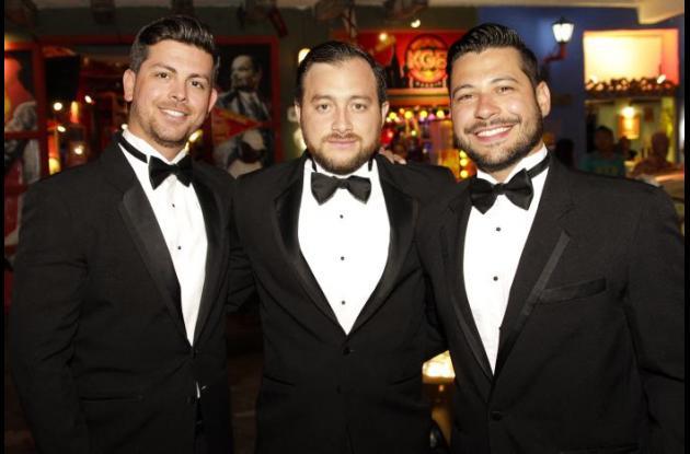 Franco Rivero, Gabriel Asís y Juan Quintero.