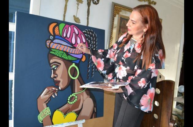 La obra de Gina González es especialmente fraccionada, algo que también llamó mucho la atención en el concurso.