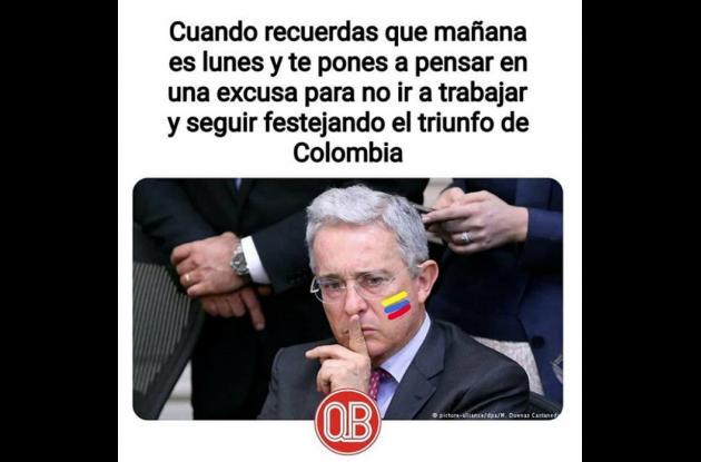 Imagen graciosa de Álvaro Uribe Vélez.