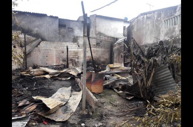 Casa incinerada