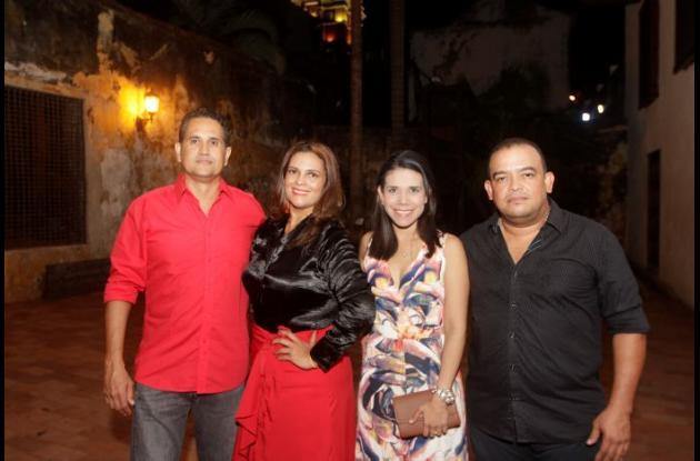 Ismael Gomezcáceres, Liliana Maza, Ariadna Mendoza y Fabián Maza.