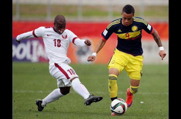 Joao Rodríguez futbolista colombiano con ficha en el Chelsea. En acción durante el Mundial Sub-20 2015