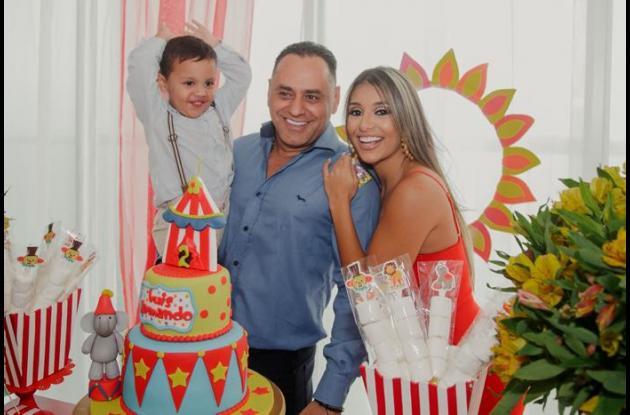 Luis Armando Guzmán, Luis Armando Guzmán Jurado y Cristina Jurado.