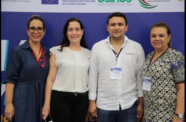 María Rosario Piñeres, María José Covo, Ricardo Mayorga y María José Chávez.
