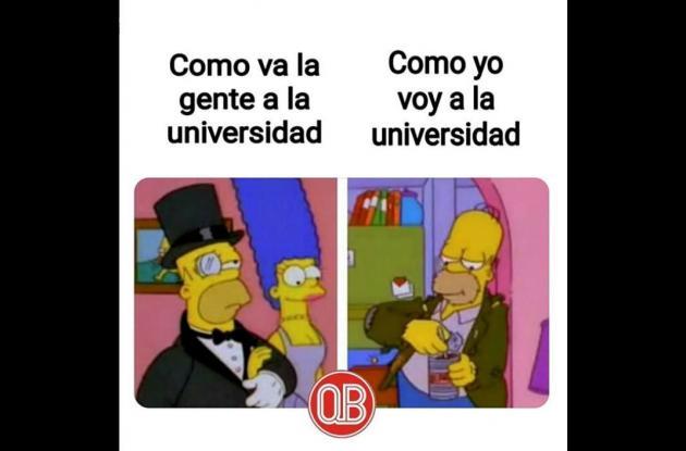 Meme Marge y Homero Simpson.