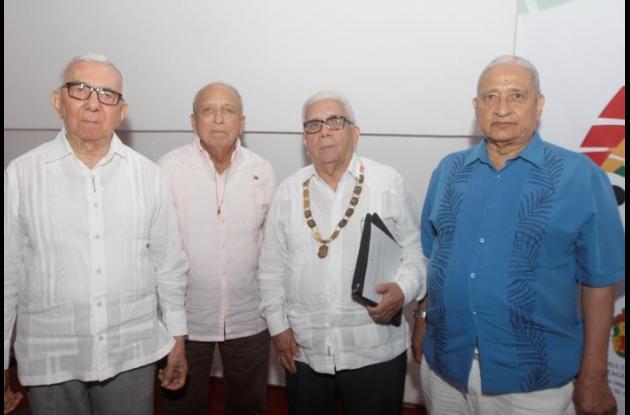 Rafael Ballestas, Rafael Grau, Darío Morón y Narciso Castro.