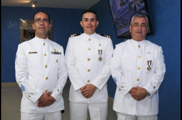 Ricardo Hernández, Gonzalo Rojas y Henry Rolón.