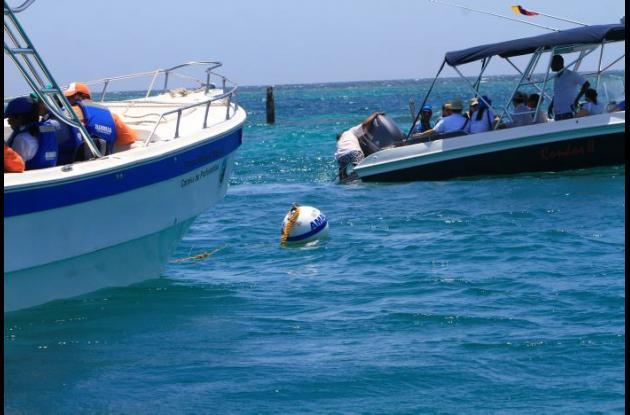 Boyas tipo balón en Isla Grande
