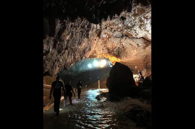 Rescate de menores atrapados en una cueva en Tailandia