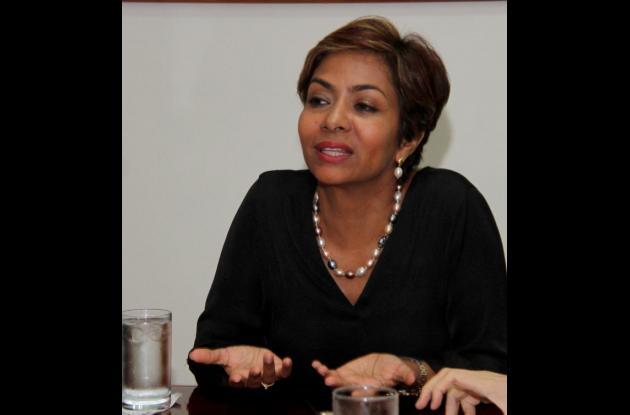 Zully Salazar, presidenta de Corpoturismo.