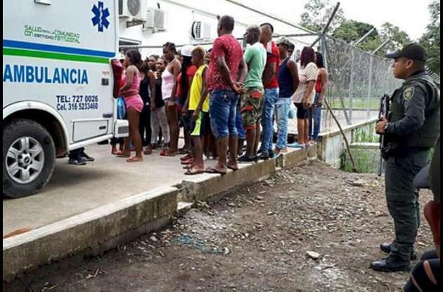 Los heridos fueron trasladados en ambualancia hasta la clínica Traumas y Fracturas.