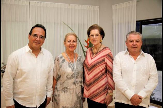 Alejandro Orellana, Fabiola Agudelo, Sandra Trujillo y John Gilchrist.