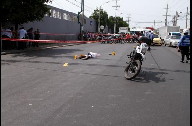 Asesinan a Wilam González en el barrio El Bosque. Un sicario lo baleó.