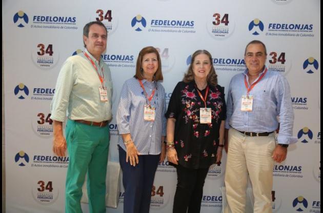 Carlos García, Rossina Restrepo, Cecilia Restrepo y Luis Enrique Ayala.