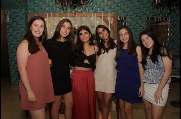 Catalina Arango Jiménez, Alexandra Gomezcaceres, Juliana Rojas, Odette Stambouli, Isabella Benedetti y Margarita Aguilera.