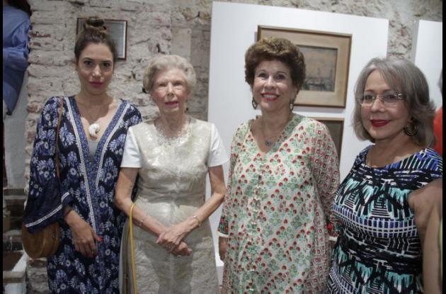 Daliz Londoño, Catalina Cavelier de Lemaitre, Prince Martínez y Beatriz Ibarra.