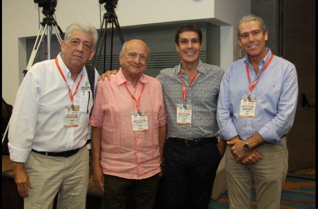 Diego González, Luis Hoyos, Álvaro Cepeda y Fernando Cepeda.