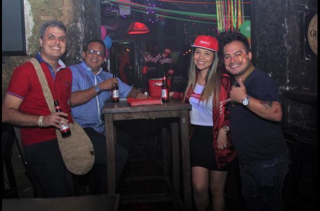 Francisco Tinoco, Mauricio Espitaleta, Laura Spath y Miguel Ángel Ruiz.