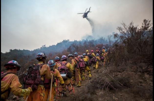 Incendio en Estados Unidos.