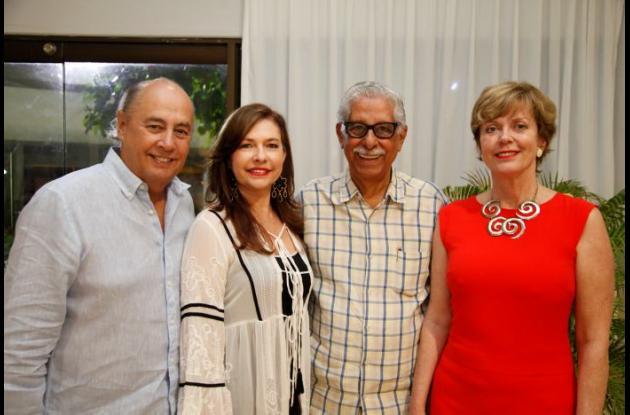 Jorge Durán, Chica Morales, Dionisio Vélez White y Marianne Feldmann.