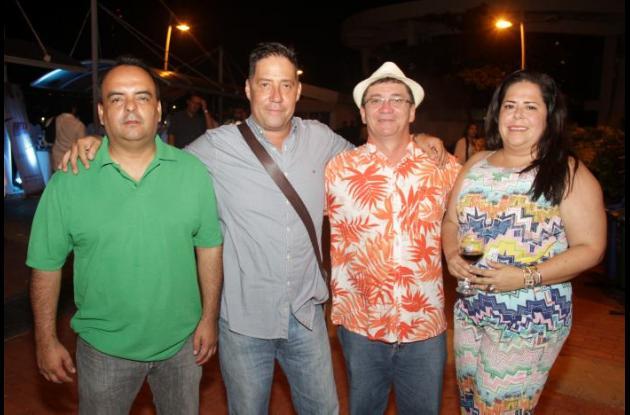 Jorge Márquez, Carlos Arturo Escobar, Vicente Arcieri y Cesia Mendoza.