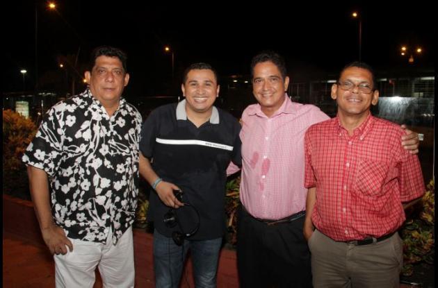 Juan Carlos Díaz, Daniel Aguirre, Ricardo Bello y Federico Archbold.