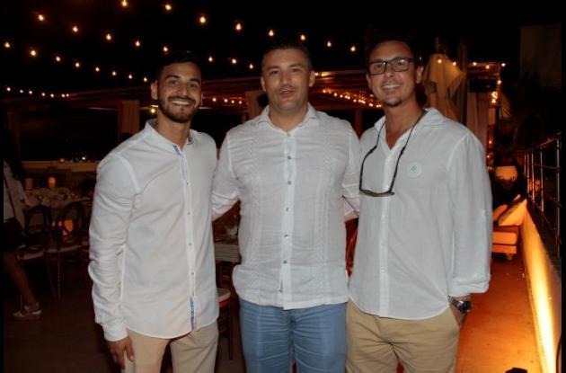 Juan Sebastián Sánchez, Juan Manuel Romero y Nicolás Kraliczek.