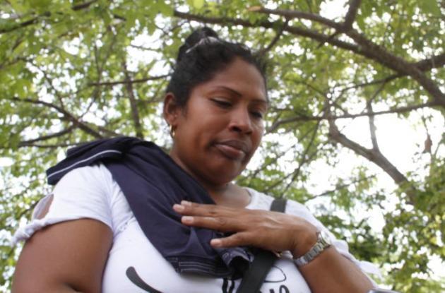 Kenia Contreras, mujer de Wilmar González, quien fue asesinado en el barrio El Bosque de Cartagena.