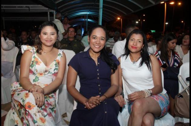 Leidis Rivero, Sorelys Torres y Maday Monterrosa.