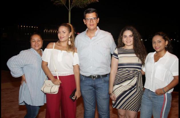 Malena Álvarez, Zully Fuentes, Jorge Mario Posada, Ayda Polo y María Alejandra Anzoátegui.