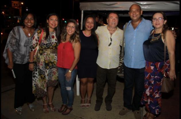 Mercedes Susana Romero, Luz Meira Díaz, Daniela Buelvas, Erica Otero, Amaury Muñoz, Aníbal Therán y Martha Ramírez.