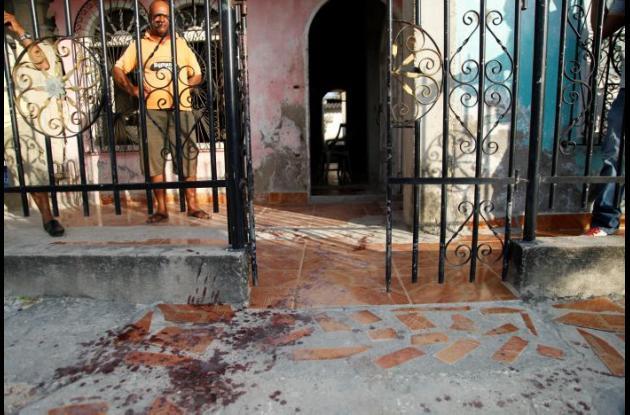 Casa de la mujer herida en el enfrentamiento.