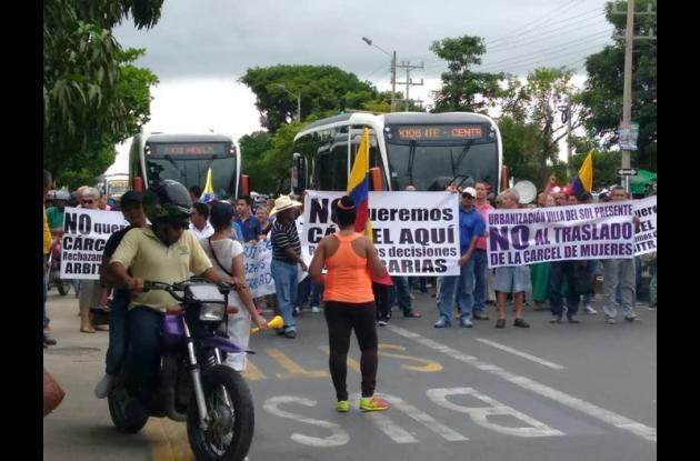 Protesta por traslado de la cárcel