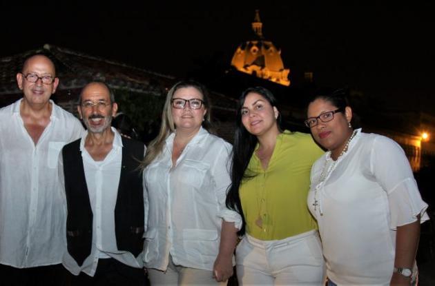 Ruvén Afanador, Álvaro Restrepo, Isabel Giraldo, Evelyn Fernández y Angélica Jiménez.