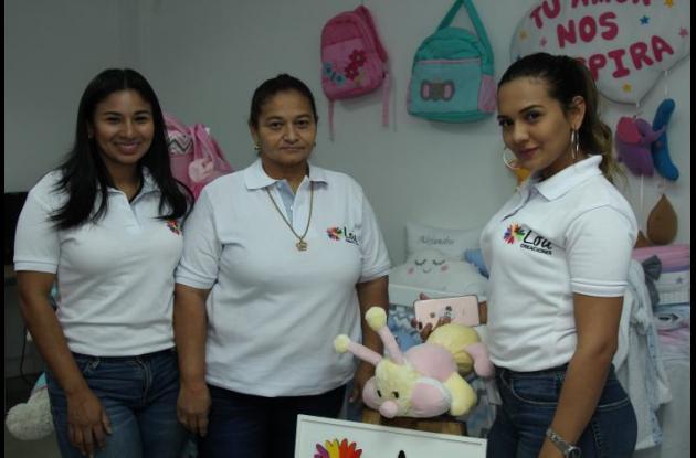 Tatiana Pacheco, Lourdes Castro y Nayla Dlaikan.