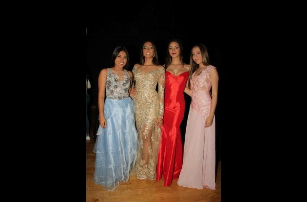 Adriana Rivero, María José Mendoza, Ingrid Mouthón y Camila Sabogal.
